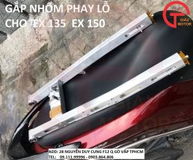 GẮP NHÔM PHAY LỖ CHO EXCITER 135, EXCITER 150